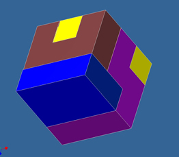 Computer Generated Puzzle Cube Part Image 3