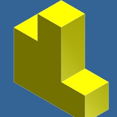 Computer Generated Puzzle Cube Part Image 2
