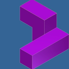 Computer Generated Puzzle Cube Part Image 1