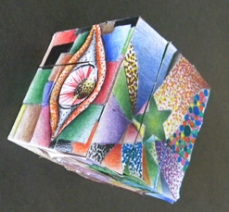 Puzzle Cube Inspired by Pointillism