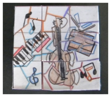 Puzzle Cube Design Inspired by Music and Cubism