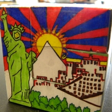 Puzzle Cube with Images of Tibet and NYC