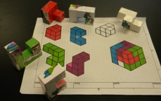 Isometric Drawing of Puzzle Cube Parts