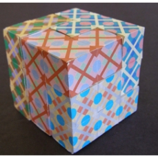 Puzzle Cube Project With Computer Generated Interlocking Tile Design Image 3