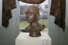 Bust by Jennifer Merdjan, Bayside Historical Society