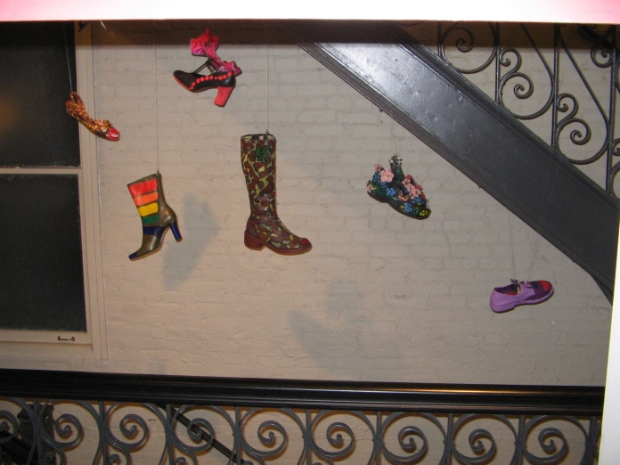 If shoes Could Talk Art Shoe Installation