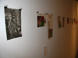 Intaglio Print on Left by Jennifer Merdjan, Local Project, NYC
