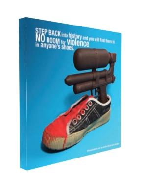 Left View Violent Shoe Poster