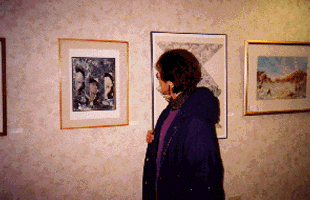 Intaglio Print on display at the Women's Center
