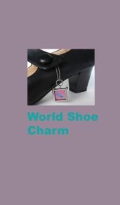 World Shoe charm