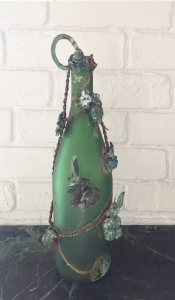 Jennifer Merdjan , Art with recycled objects, disparate materials art, eco art