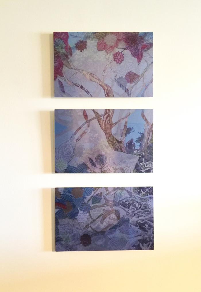 Triptych Day Dreaming Metal Print Jennifer Merdjan